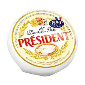 1kg Double Brie Wheel by Président Cheese Australia