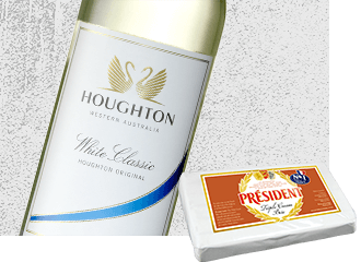 2013 Houghton White Classic Wine with Président Triple Cream Brie Cheese