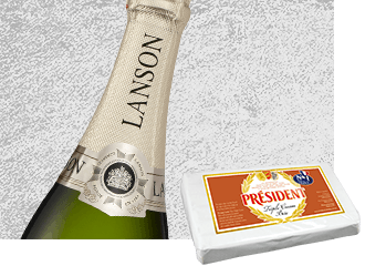 2004 Lanson Gold Label Vintage Champagne pairing with Président Triple Cream Brie - Cheese & Alcohol Pairings