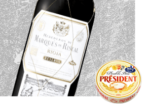 2008 Marques de Riscal Reserve Wine with Président Double Brie Cheese
