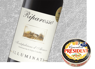 2012 Illuminati Riparosso Wine with Président Camembert Cheese
