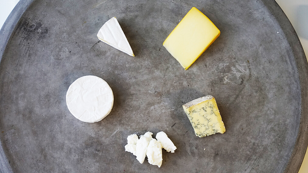 Arrange Président cheeses from mildest to strongest flavour on your cheese board