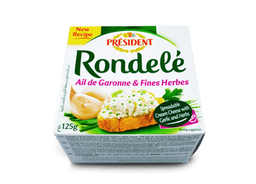 Rondelé with Garlic & Herbs - Président Cheese Australia
