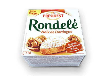 Rondelé with Walnuts - Président Cheese Australia