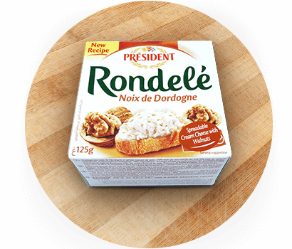 Président Rondelé with Walnuts spreadable cream cheese product in Australia